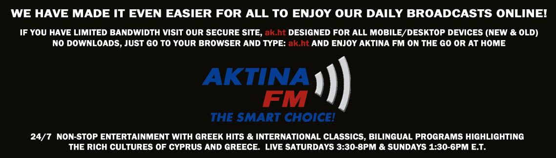 AKTINA FM New Low Bandwidth Online Radio Broadcast Web-Link